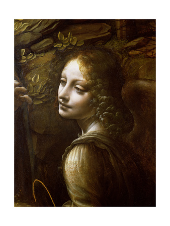 da vinci angel painting