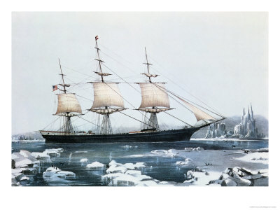 Clipper Ship Rounding Cape Horn.