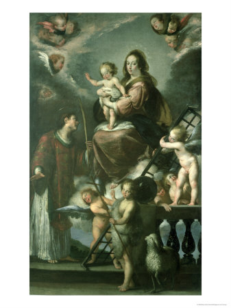 Madonna and Child with the Infant St. John the Baptist and St. Lawrence and Angels, 1629