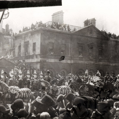 Queen Victoria's Golden Jubilee Procession in Whitehall 1887