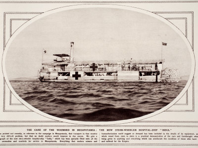 Care of the Wounded, Mesopotamia: New Steam-Wheeler Hospital ShipIndia