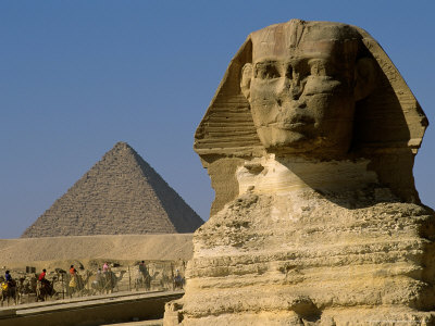The Sphinx with 4th Dynasty Pharaoh Menkaure