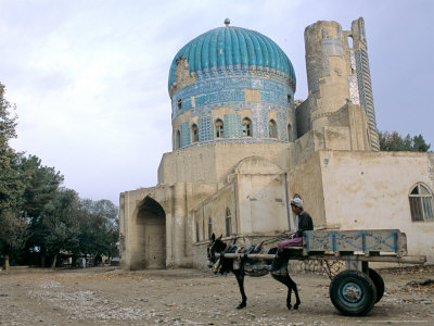 Masjid Sabz, the Green Mosque in Balkh, Afghanistan