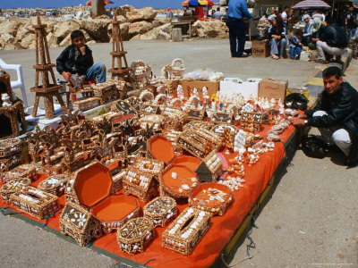 Handicrafts and Shell Boxes for Sale on Beach, Tartus, Syria