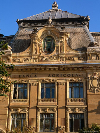 Historic Building Facade, Sibiu, Romania,