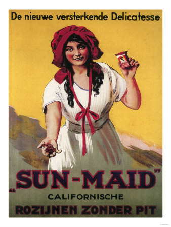 Germany - Sun-Maid California Raisin Poster