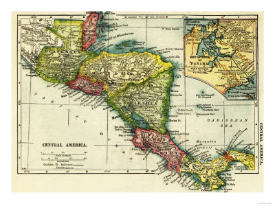 Reprints of the Central America map are available by clicking on the image.