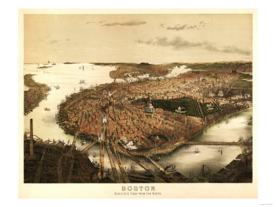 Panoramic map of Boston available by clicking on the image.