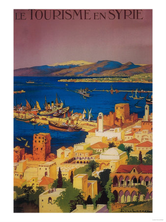 Syria - French Travel Poster, Touring in Syria