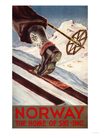 Norway - The Home of Skiing Sports Art Print