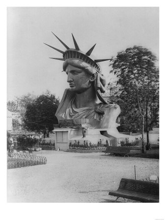 Head of Statue of Liberty in Paris Park Photograph - Paris, France