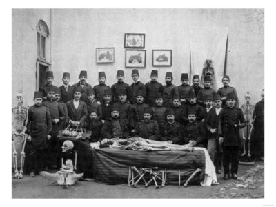 Medical Students with Cadaver Photograph - Istanbul, Turkey