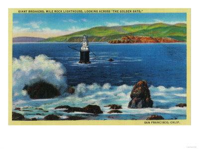 Mile Rock Lighthouse.