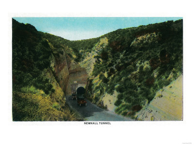 The Newhall Tunnel in Southern California.