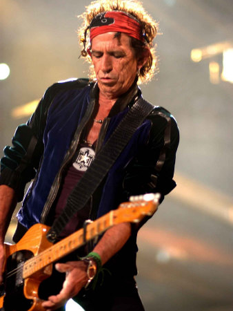 Keith Richards Performing on Stage ...