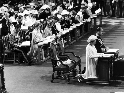 Queen Elizabeth II's Silver Jubilee at St. Paul's Cathedral