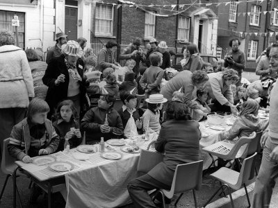 Queen Elizabeth II Silver Jubilee Street Party Celebrations 1977