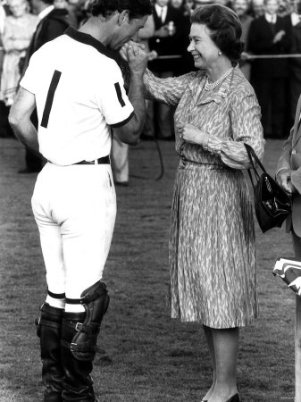 Queen Elizabeth II and Prince Charles, July 1985