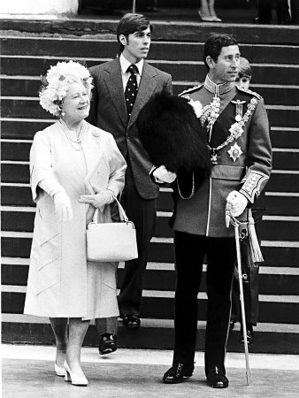 Queen Mother with Prince Andrew and Prince Charles At Elizabeth II's Silver Jubilee