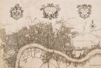 Plan of the City of London, 1720 - Art Print