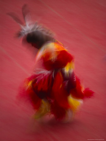 Native American Dancer in ...