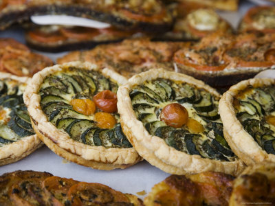 Quiche for Sale at the Market