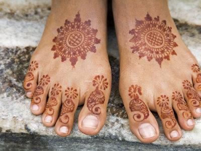 Hennatatoo für die Füße