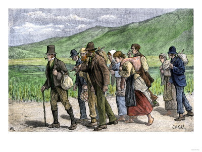 Irish Potato Harvesters on their Way to England to Find Work, 1800s