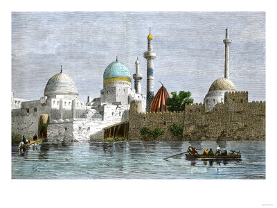 View of Mosul, Iraq, from the Tigris River, 1800s