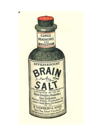 Brain Salt Headaches Humour Medicine, UK, 1890