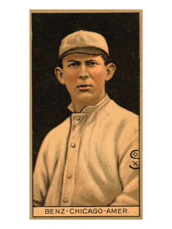 Chicago, IL, Chicago White Sox, Joseph Benz, Baseball Card