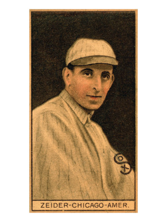 Chicago, IL, Chicago White Sox, Rollie Zeider, Baseball Card