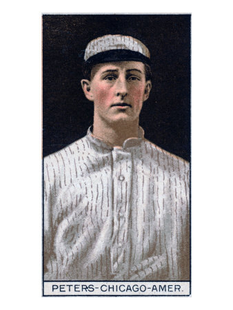 Chicago, IL, Chicago White Sox, O. C. Peters, Baseball Card