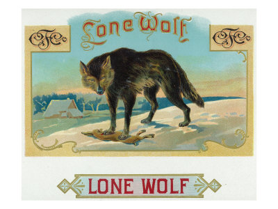 Lone Wolf Brand Cigar Box Label