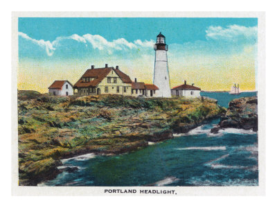 Portland, Maine, View of the Portland Headlight