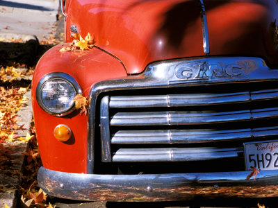 Old GMC Truck During Fall, Santa Barbara, California, USA