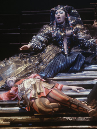 Renowned singer Leontyne Price as Cleopatra at the Metropolitan Opera in New York
