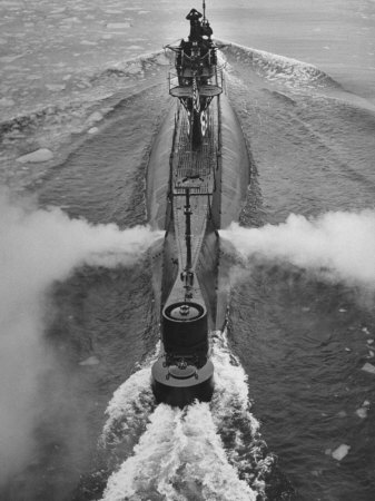 Submarine Roaring Through the Ocean