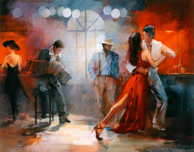 Art of the Spirit Famous Tango Dancers Art Prints | Art of the Spirit