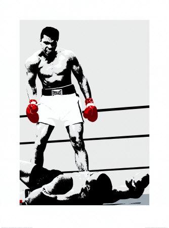 Muhammad Ali: Gloves Sports Art Print