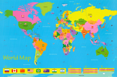 Childrenmotivational Posters on Motivational Posters   World Map   Children S Posters