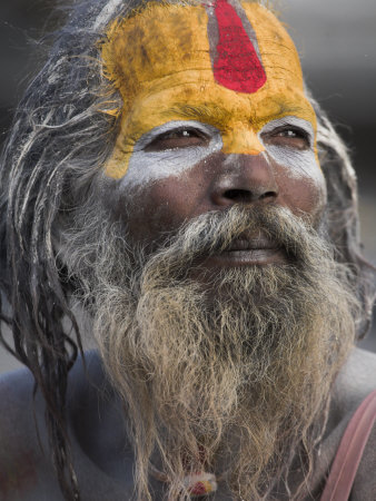 Sadhu, Shivaratri Festival, Pashupatinath Temple, Kathmandu, Nepal