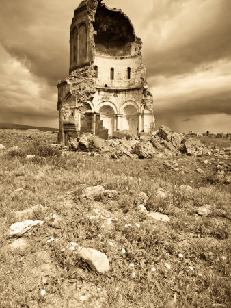 Church of the Redeemer, Ani Ruins, Kars, Eastern Turkey, Turkey