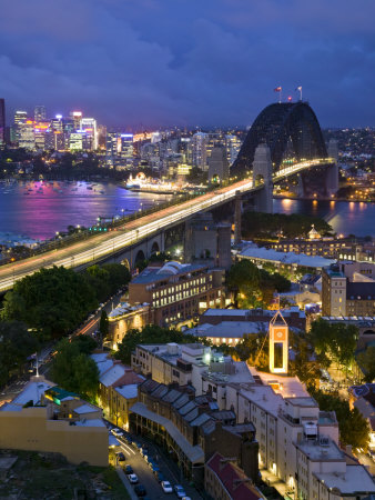 Sydney Harbour Bridge from the Rocks Area, Sydney, New South Wales, Australia