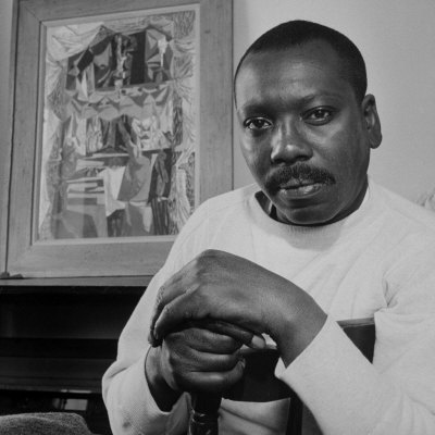 Boxing Posters Artist Jacob Lawrence Sitting In Front Of