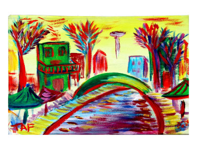 Riverwalk 8100 Giclee Print