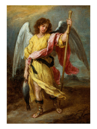 Angel painting - Bartolome Esteban Murillo