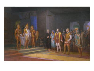 The Visits of Hernan Cortez to Emperor Moctezuma, 1885