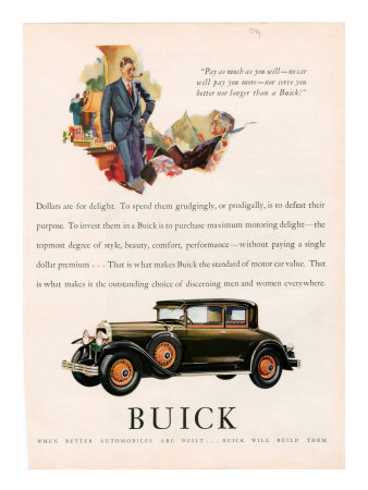 Buick, Magazine Advertisement, USA, 1929