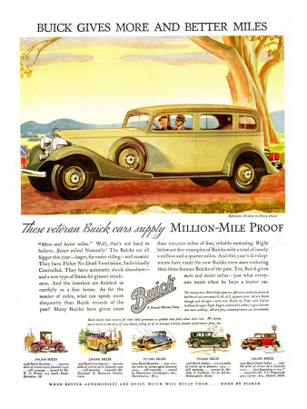 Buick Division of General Motors, Magazine Advertisement, USA, 1930